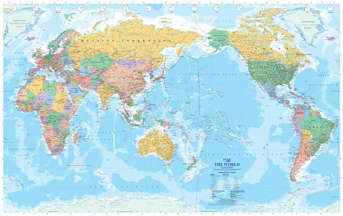 世界 地図 国名 入り